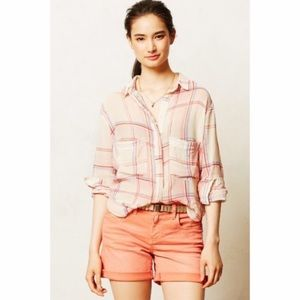 Holding Horses gauzy plaid top